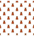 Toy bear pattern cartoon style vector image vector image
