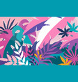 tropical abstract background bright colorful vector image vector image