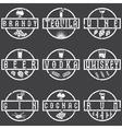 vintage grunge labels set alcohol drinks vector image