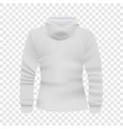 white hoodie back view mockup realistic style vector image vector image