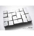 3D Cubes design background vector image