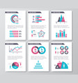 business infographic brochure pages with vector image