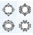 vintage mirror frames set collection of vector image