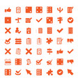 49 choice icons vector image vector image