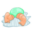 a babys bottom dressed in diapers vector image vector image