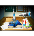 A laboratory room with a book and laboratory vector image vector image