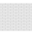 Abstract seamless white flat brick wall vector image