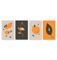 abstract trendy minimal nature objects set vector image vector image