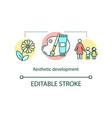 aesthetic development concept icon