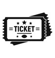 american football ticket icon simple style vector image vector image