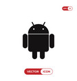 android character icon vector image