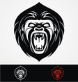 Angry Gorilla Head Mascot vector image vector image