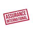 assurance international rubber stamp