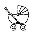 baby stroller icon design clip art line icon vector image