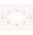Background with pearl frame vector image vector image