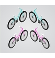 Bicycle isometric vector image vector image