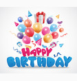 birthday celebration background vector image vector image