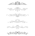 Borders and dividers vector image vector image