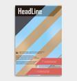 business multipurpose annual report brochure vector image vector image