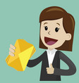 businesswoman has a lot of emails he found the vector image vector image