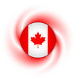 canadian flag badge vector image