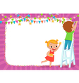 children decorating for a party vector image vector image