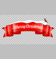 christmas realistic banner vector image