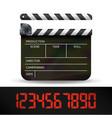 clapper board digital film movie clapper vector image vector image
