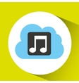 cloud music download connected design vector image vector image