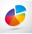 colorful 3d pie chart icon vector image