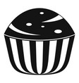 cup cake icon simple black style vector image