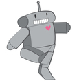 Cute Heart Robot vector image