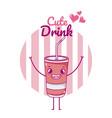 cute soda drink kawaii cartoon vector image