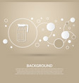 decanter icon on a brown background with elegant vector image vector image