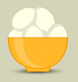 egg in shell vector image