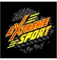 eXtreme sport - moto emblem vector image vector image
