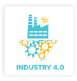 factory icon gears mechanism industry 40 concept vector image vector image