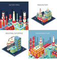 factory isometric design concept vector image vector image