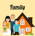 family home architecture image vector image vector image