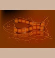 fish as film strip vector image vector image