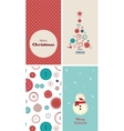 four Christmas cards with creative christmas tree vector image vector image