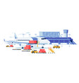 freight aircraft and cargo transportation banner