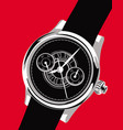 graphic image a luxury watch vector image