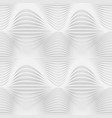 grey abstract seamless pattern waves on white vector image