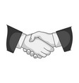 handshakerealtor single icon in monochrome style vector image vector image