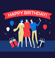 happy birthday party - flat design style vector image