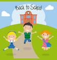 happy children for the return to school vector image vector image