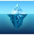 Iceberg in blue ocean background vector image