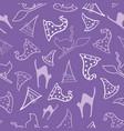 light purple halloween seamless pattern vector image