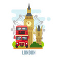 london concept with landmarks symbol vector image